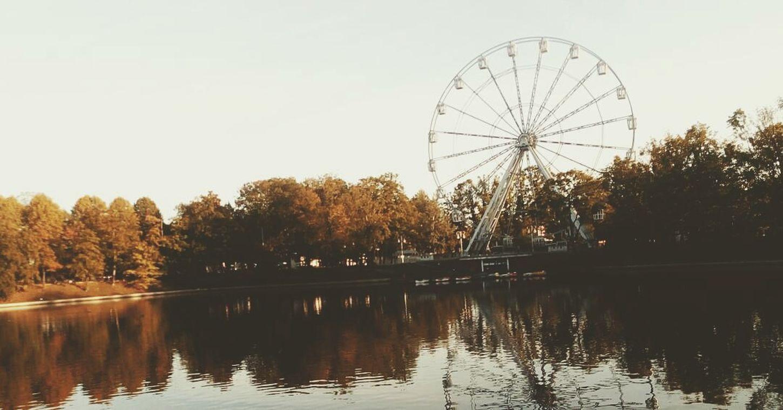колесо_обозрения калининград верхнееозеро Природа осень золотаяосень Ferris Wheel Kaliningrad Upperlake Nature Autumn Golden Autumn