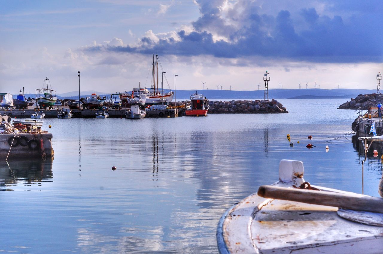 Blue From My Point Of View Water Reflection Fishing Boat Islandlife Localscene Daydreaming Daylight Fishing Port Nautical Vessel Fishing Village Sea Sky No People Harbor Outdoors Water Reflections Colorful Life In Colors Island Malephotographerofthemonth Local Life - Greek Islands Chios