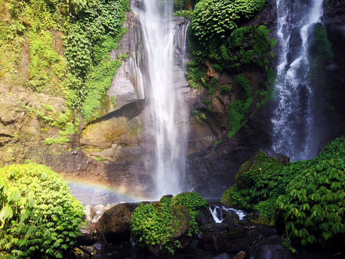 Bali INDONESIA Island Life Travel Traveling Wanderlust Beauty In Nature Day Explore Forest Freshness Long Exposure Motion Nature No People Outdoors Rainbow Rock - Object Scenics Sekumpul  Sekumpul Waterfall Tourism Tranquil Scene Travel Destinations Tree Water Waterfall