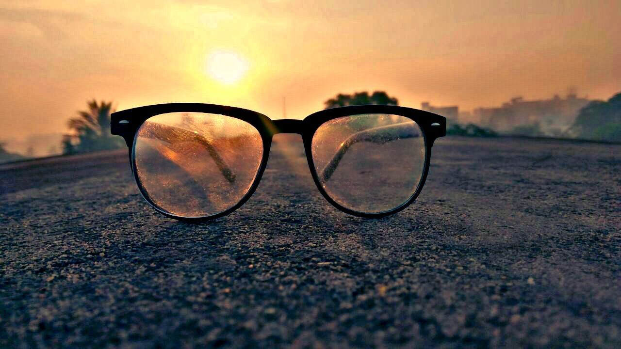 EyeEmNewHere Sunset Outdoors Close-up Eyeglasses  Sky No People Beauty In Nature Day Nature Vision First Eyeem Photo Mobile Conversations