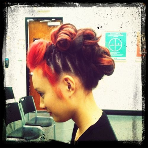 Won the updo contest at school