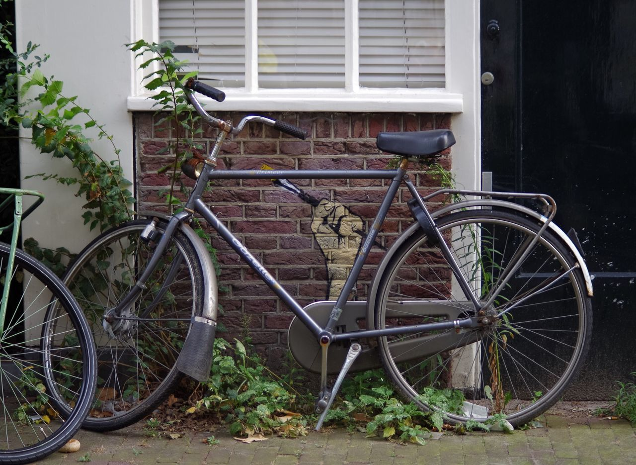 Transportation Bicycle Mode Of Transport Land Vehicle Stationary Old-fashioned Parking Power Streetphotography Street Art Art Power