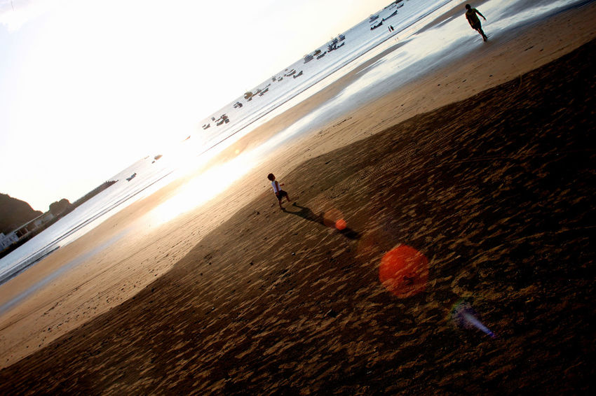 Beach Nicaragua Shadow Sun Sunset Travel Volunteering