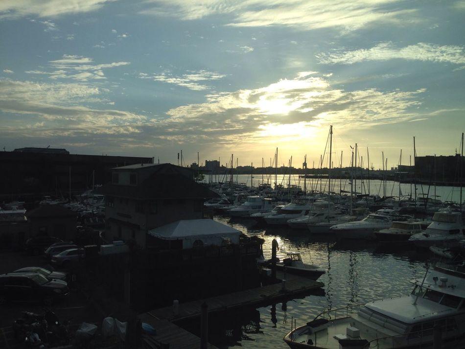 Harbour Boats Sunrise