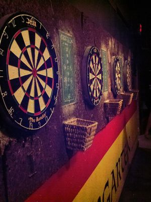 Darts at Wolff's Biergarten and Wurst Haus by axamirault