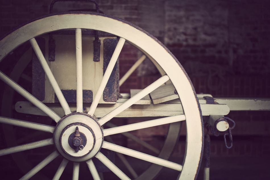 Cannon Circle Clock Day No People Old-fashioned Outdoors Spokes Vintage Wagon Wheel Wheel