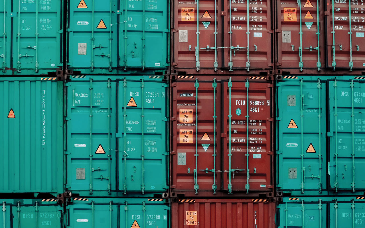- BOXED - Backgrounds Box - Container Cargo Container Communication Container Day Freight Transportation Full Frame Green Color Multi Colored No People Outdoors