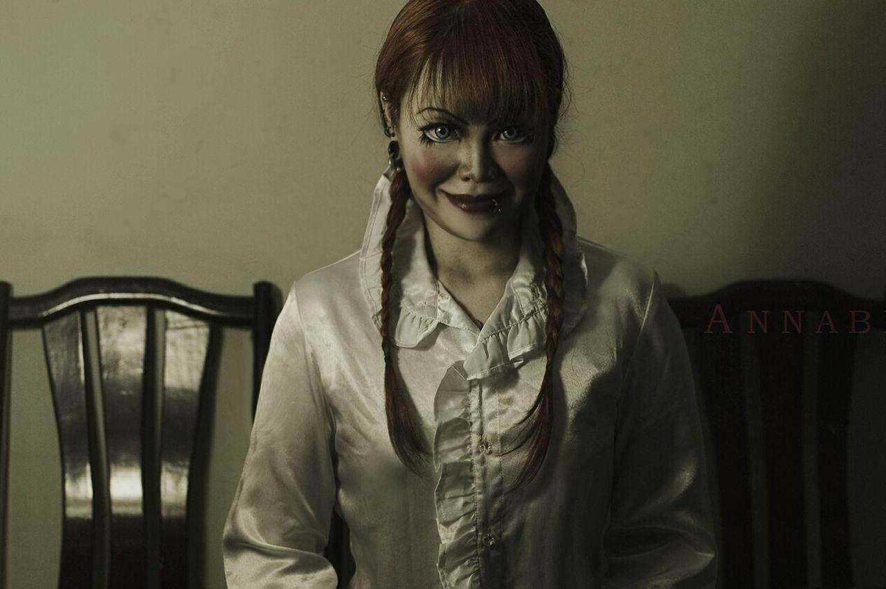 Annabelle Annabelle Doll Annabelledoll Annabellecosplay Cosplay Costumeplay Myself Dark Costest Smile Smiling Me Doll Halloween Horror