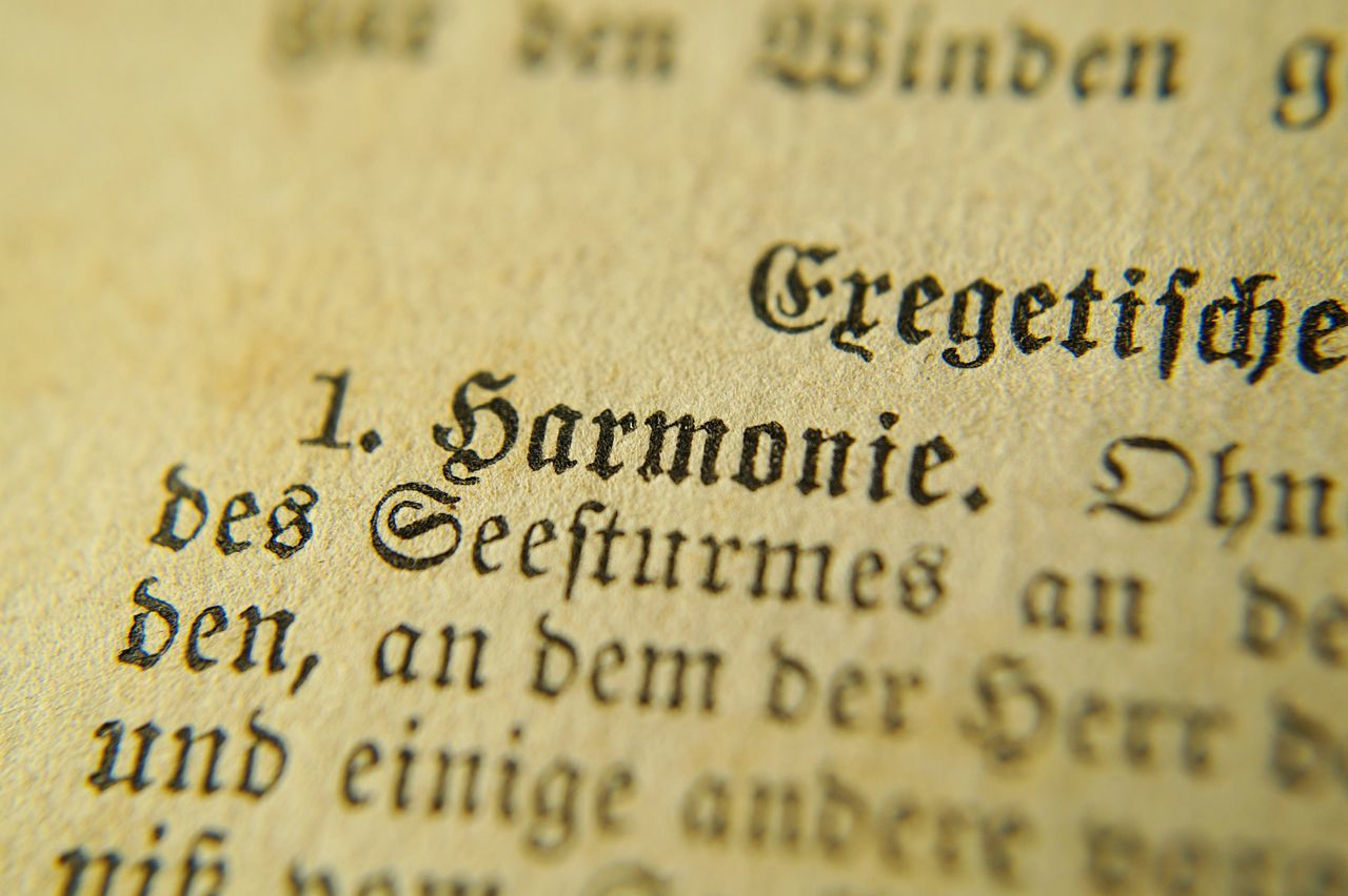 antique book photography Antique Bib Book Close-up Der Gute Mensch Forword Harmonie Harmony Macro Old Old Book Old Page Pages Paper Vorwort