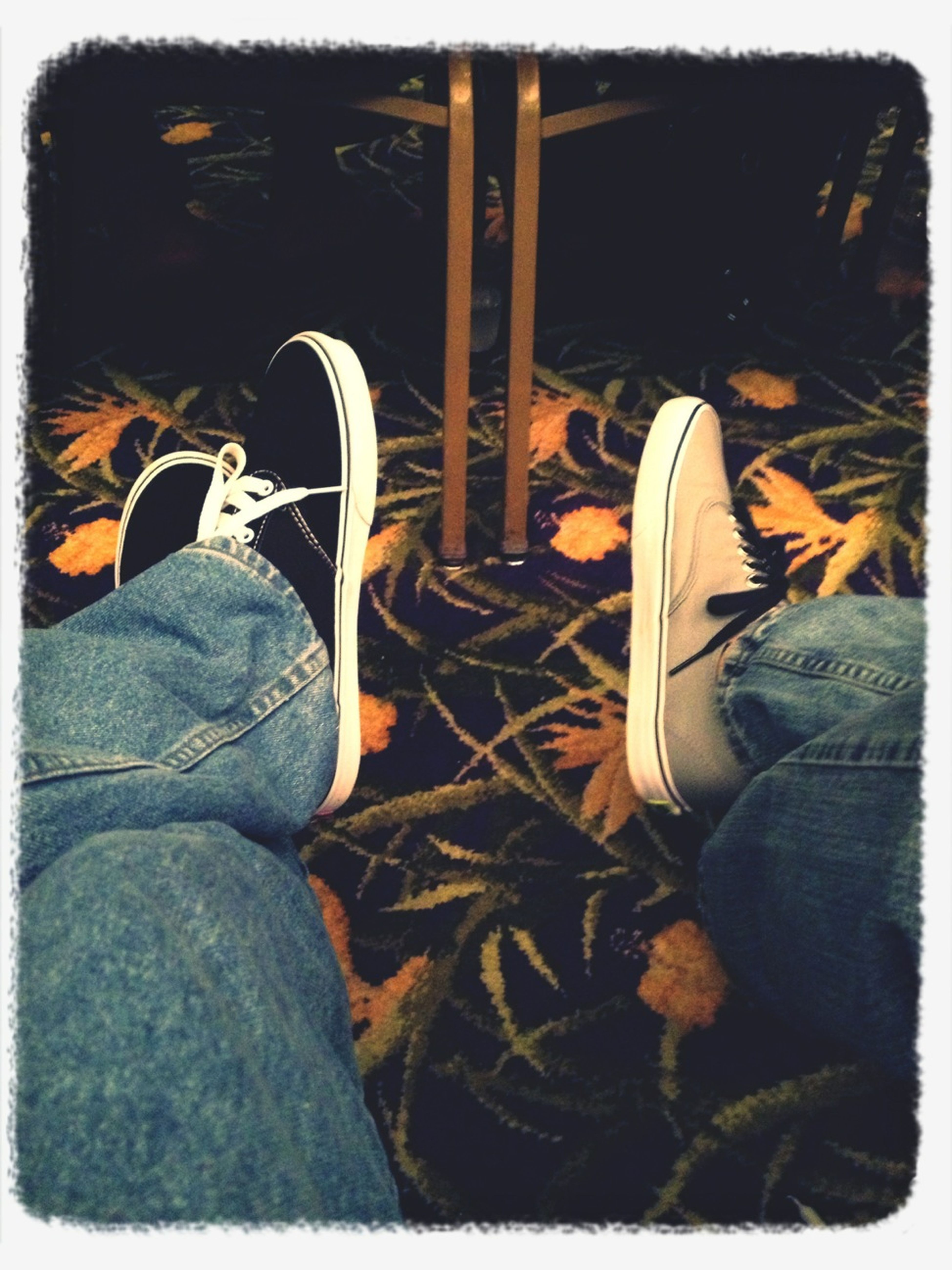 Got our vans on, but they look like sneakers.