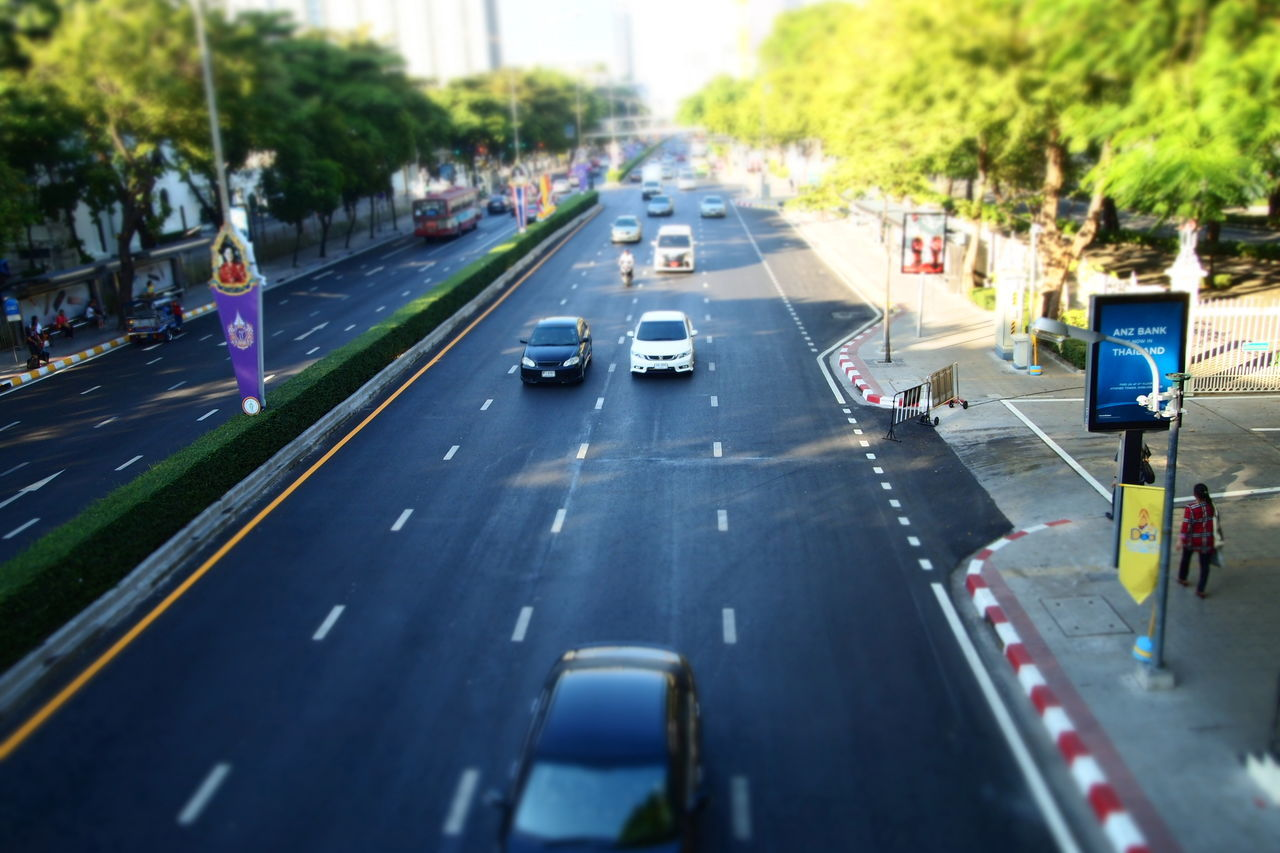 Transportation Car Road Traffic Street City Street Land Vehicle Mode Of Transport High Angle View Outdoors Day City People EyeEm Gallery Street Life Bangkok Thailand