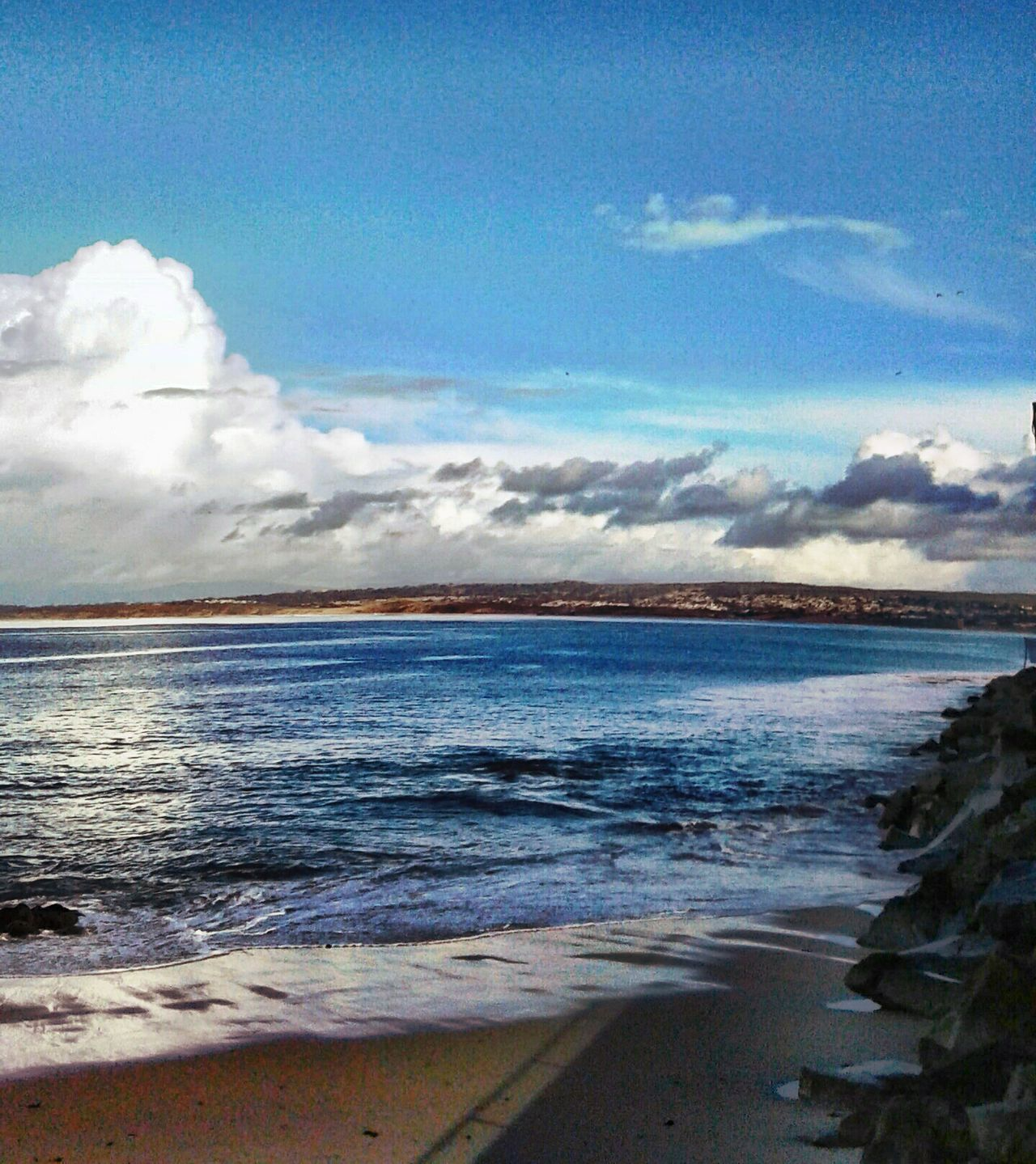 Sea Beach Cloud - Sky Horizon Over Water Beauty In Nature Sky Blue Scenics Sand Nature Tranquil Scene Water No People Outdoors Wave Tranquility Day Landscape