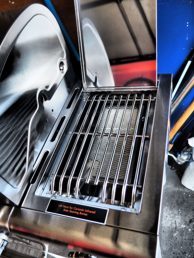 Grill Grilling No People Reflection Searer Shiny Stainless Steak Dinner