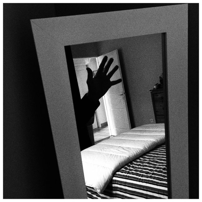 Hand in the Mirror Bnw_friday_eyeemchallenge Black And White Photography Black And White Collection