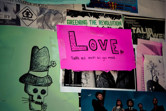 Casual Clothing Close-up Communal Community Community Notes Day Doodle Leisure Activity Lifestyles Love Love Is All You Need Message Message Board Notes From The Underground Sign Skeleton Text Urban Art Wall Wall Art