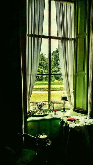 Monumental  Estate Verhildersum, Interior of the Green Room, 19thcentury Interior Design