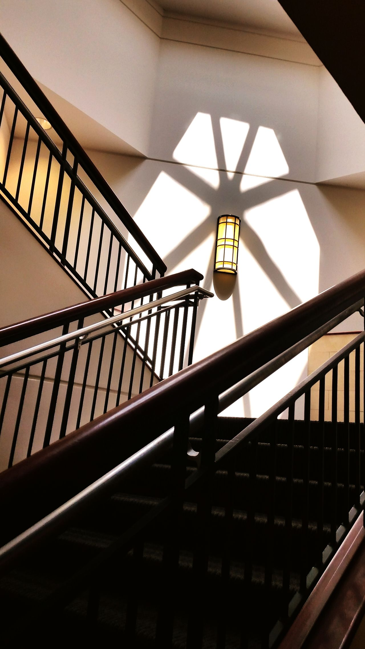 Railing Staircase Steps And Staircases Steps Architecture Built Structure Low Angle View Indoors  Day No People Spiral Staircase