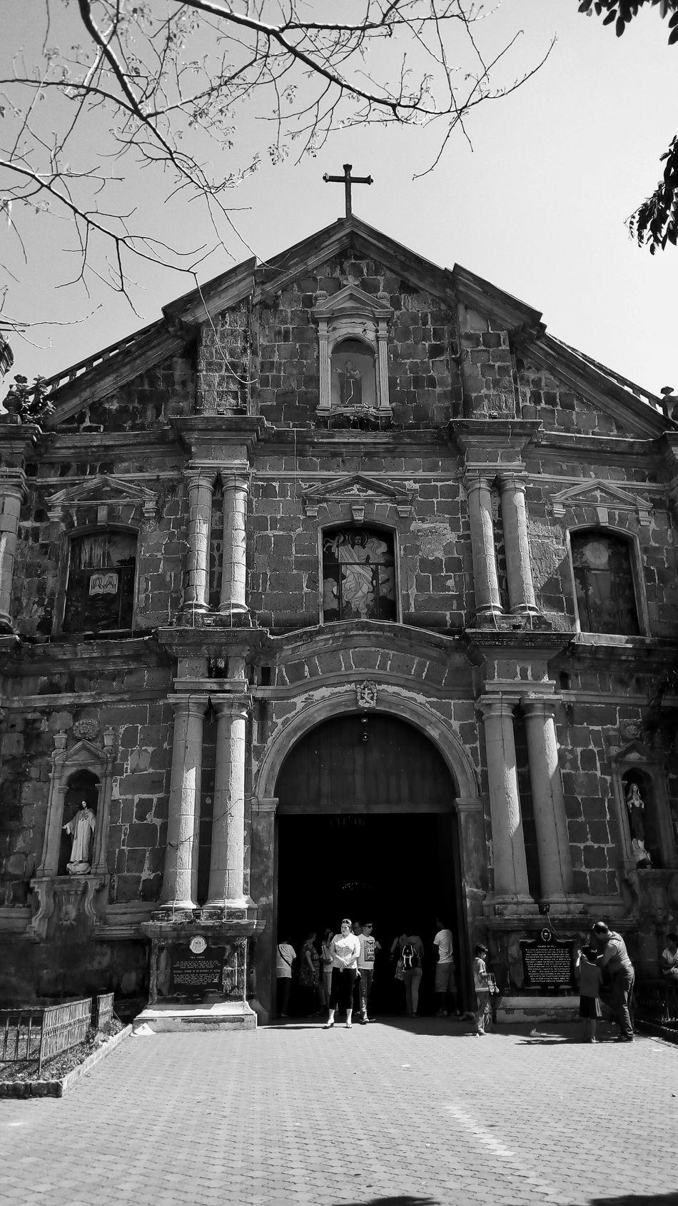 Old Church Church Eyeem Philippines Eye For Photography Black And White Church Front Pila,Laguna Blackandwhite Blackandwhite Photography Heritage Site EyeEm Gallery
