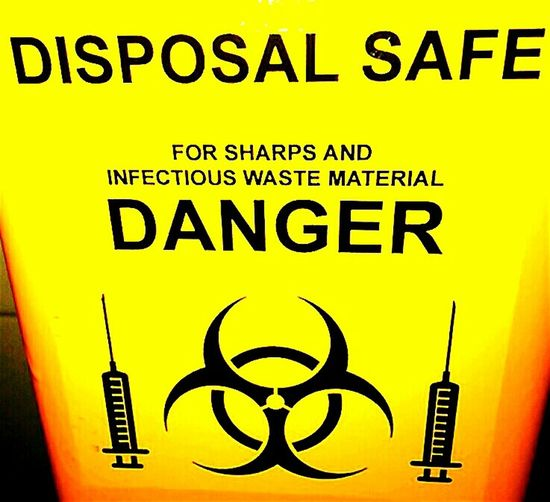 Biohazard Danger Medical Waste Syringe Infectious Waste Syringe Disposal Unit Yellow Boxes Hypodermic Needles Disposal Safe Black And Yellow  SHARPS ONLY Hypodermic Needle Yellow Contaminated Waste Yellow And Black Hypodermic Disposal Box Yellow Box Caution ⚠️ Sharps Disposal Unit Caution