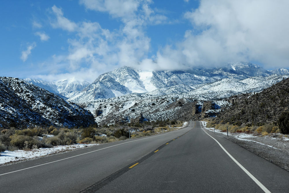 Going up the mountains - Mt Charleston Beauty In Nature Cloud - Sky Cold Temperature Day Landscape Las Vegas NV Lee Canyon Mountain Mountain Range Mt Charleston Nature No People Outdoors Road Scenics Sky Snow Snowcapped Mountain Tranquil Scene Travel Travel Destinations Tree Winter