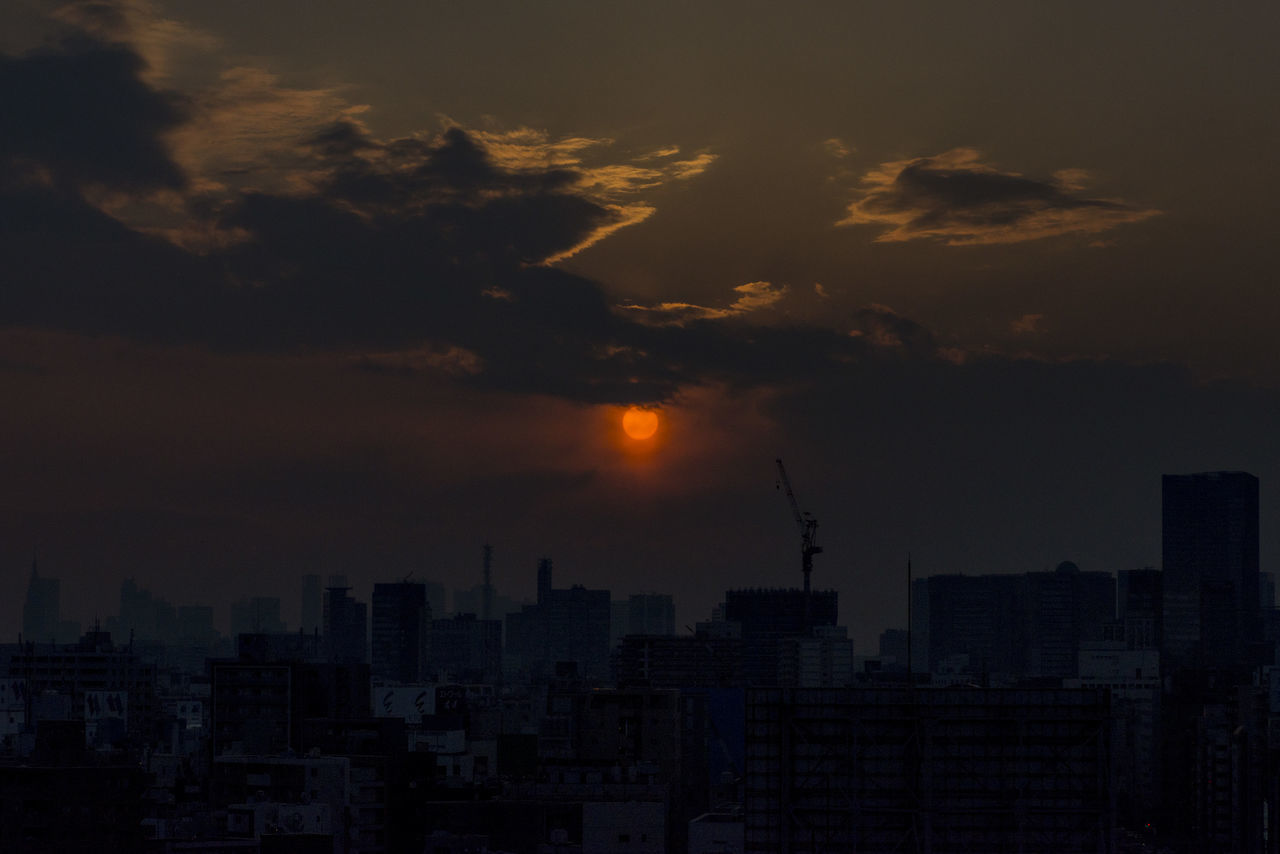 Architecture Beauty In Nature Building Exterior Built Structure City Cityscape Cloud - Sky Nature Night No People Outdoors Silhouette Sky Skyscraper Sunset Urban Skyline