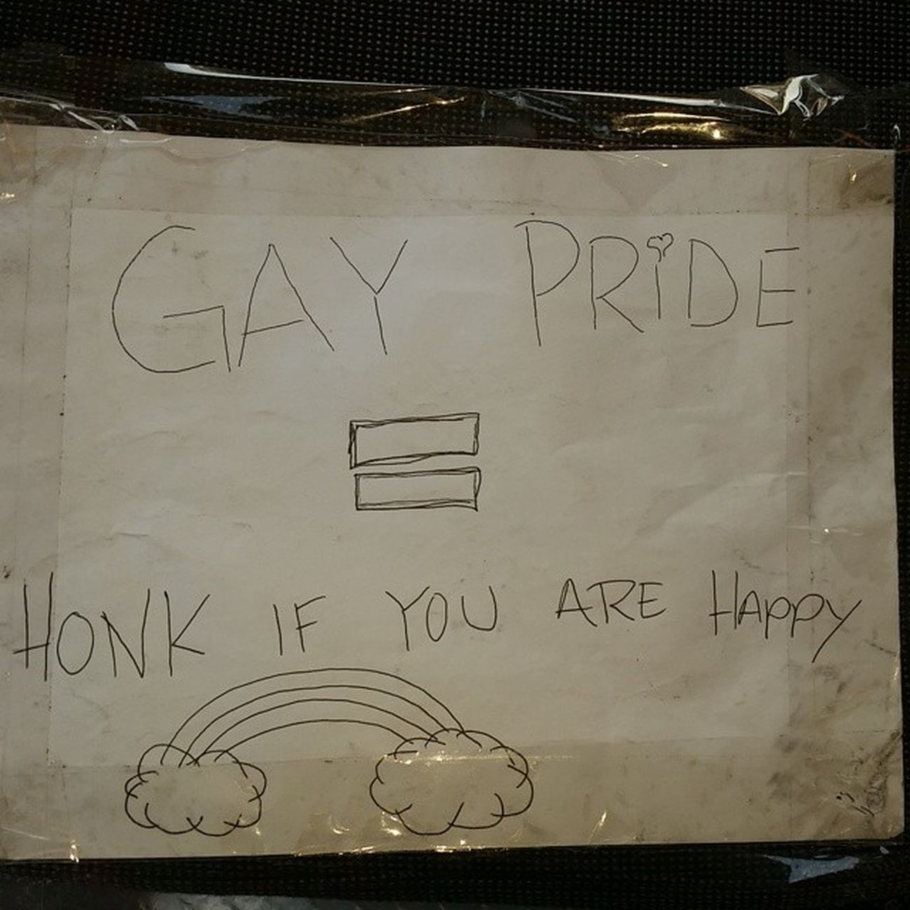 Found this on the back of my truck NOH8 EqualityForAll lol, but I got you bro @k20tony_fa5 ThisMeansWar