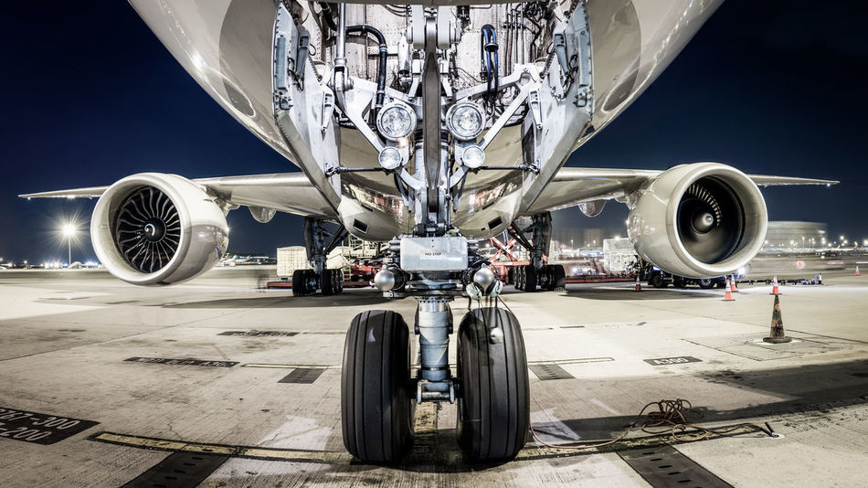 Aviation Aviationphotography Close-up Day Engine Engines Flyine Land Vehicle Mode Of Transport No People Outdoors Parked Parking Part Of Sky Stationary Wheel