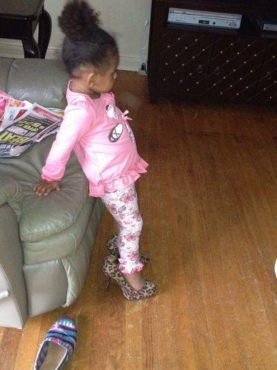 She Has My Heels On