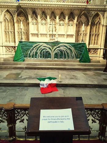 Earthquake in Italy - church in Bath - august 2016