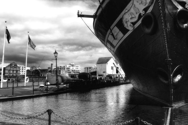 At the Old Dockyard, Bristol Check This Out Taking Photos Monochrome Black & White EyeEm Best Shots - Black + White Blackandwhite Black&white Black And White Retro Ship