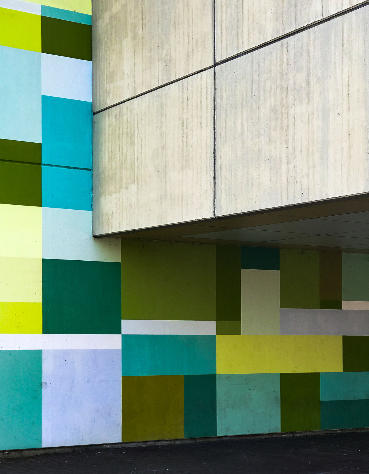 Architecture Building Exterior Built Structure Color Concrete Geometric Architecture Geometric Shapes Geometry Green Color Minimal Minimalism Minimalist Architecture Minimalobsession Modern Architecture Multi Colored Outdoors Pattern Pattern, Texture, Shape And Form Urban Exploration Urban Geometry Wall Art Wall Painting The Architect - 2017 EyeEm Awards