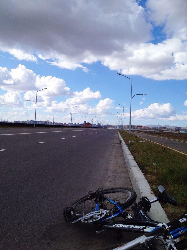 Bike Road Everywhere Transportation Clouds And Sky