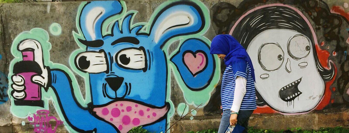 Mural always amazed JustMe Graffiti Wall Street Art Tangsel Bsdcity Weekend Getaway