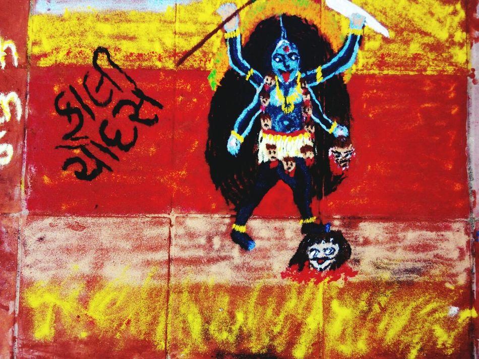 Rangolibyme Check This Out DiwalicelebrationsTaking Photos Color Portrait Festive Season Vadodara Goddess Rangoli Preparations Colorful Rangoli.