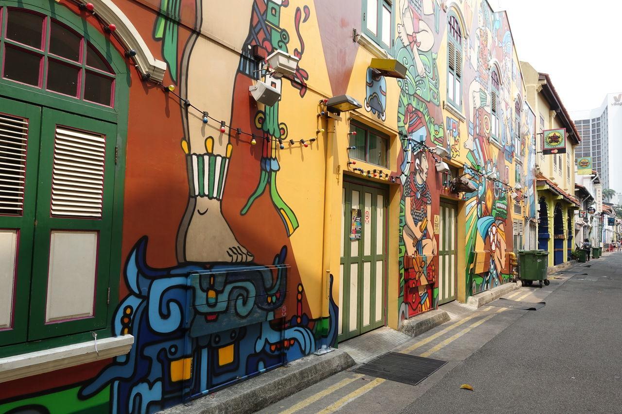 haji lane, Singapore Architecture Building Exterior Built Structure City City Life Colorful Haji Lane, Singapore Multi Colored Outdoors Residential Building Residential District Residential Structure Street
