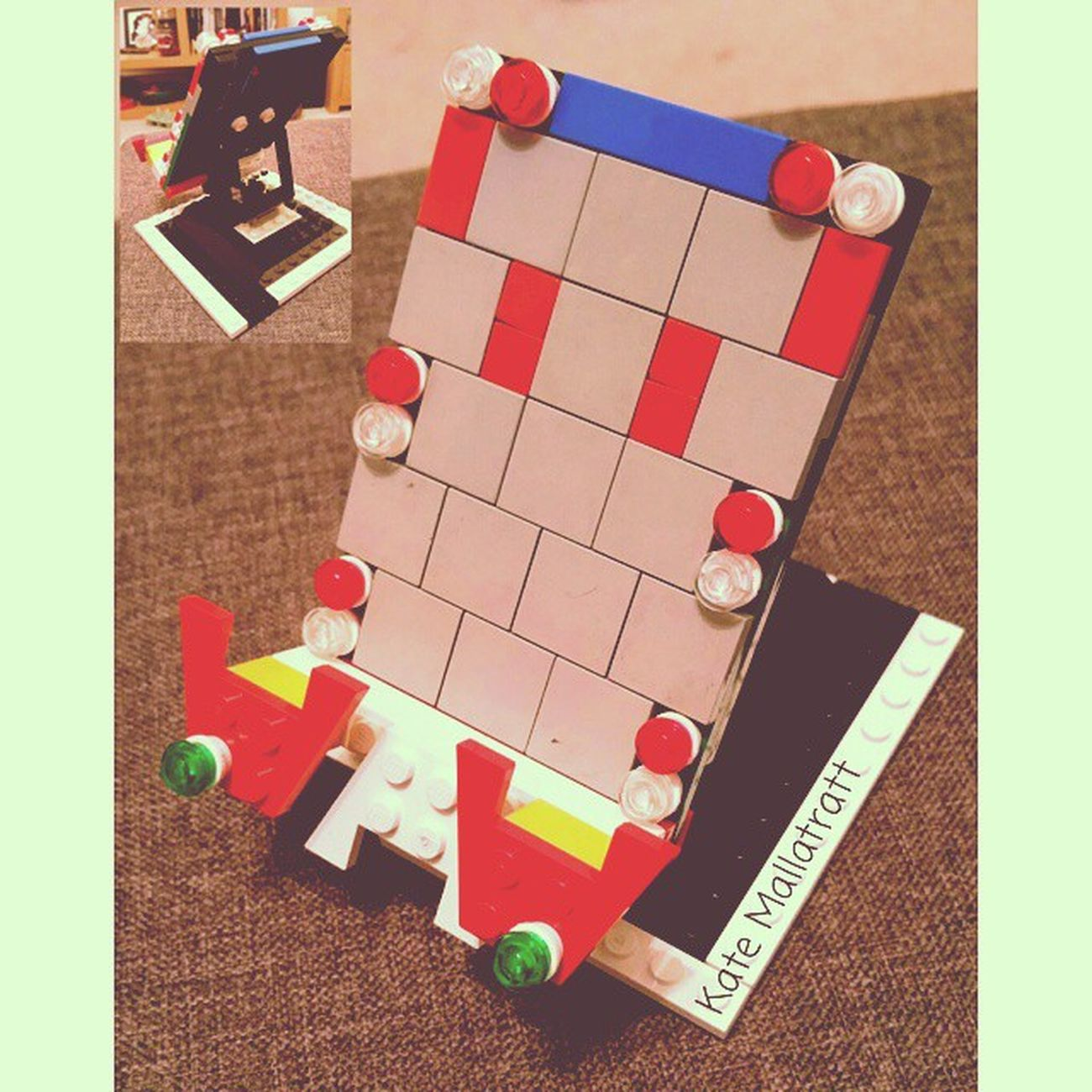 Smart phone holder I made out of my very old (& dirty) Lego bricks! Katemarie_uk LEGO Today Legoinstagram 1977 Legoig Legoigers Legolove LegoLover Childhood Childhoodmemories 230615 23062015