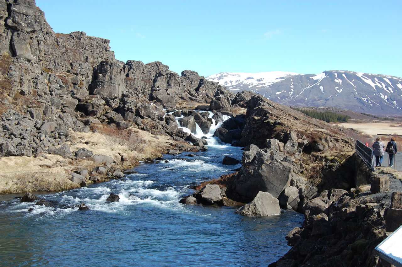 Beauty In Nature Clear Sky Day Landscape Mountain Nature No People Outdoors Scenics Sky Tree Water Thingvellir National Park Iceland