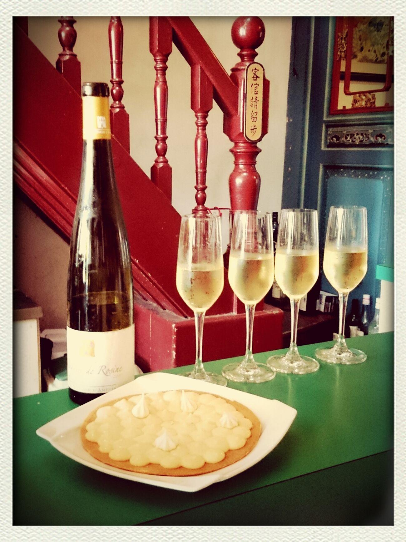 lemon tart & 義大利白酒 perfectly match !