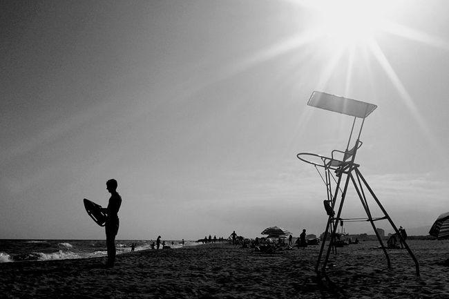 summer scenes EyeEm Best Shots EyeEm Best Shots - Black + White IPhoneography Mobilephotography Blackandwhite Beach Summer Sunset Silhouettes Summer Views Open Edit