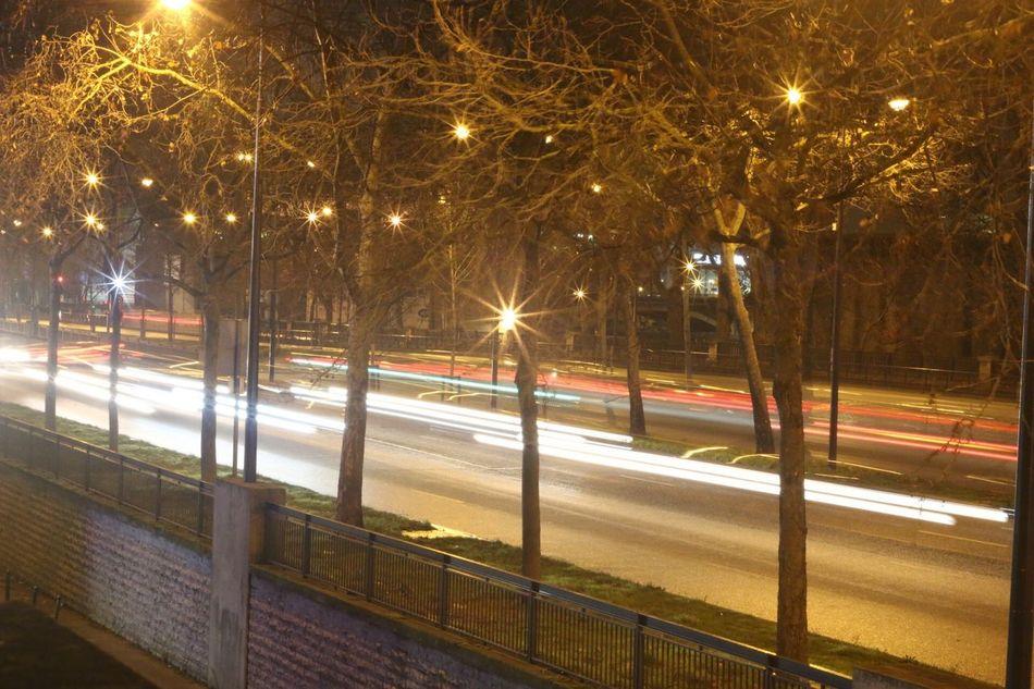Paris Bercy Village Nightphotography Cars Lights