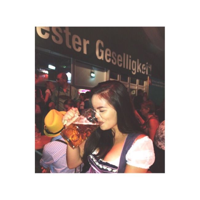 Wienerwiesn Beer Dirndl Dress Brunette Asian  Canadian Austria Europe Canada Filipina Philippines