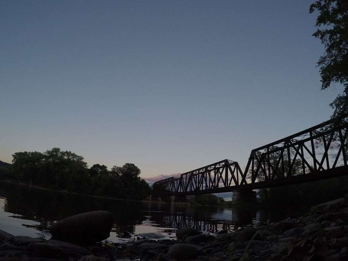 My view.. Bridge - Man Made Structure Water Bridge River Arch Bridge Riverbank Go Pro Hero 4 Go Pro Photography Train Tracks Train Tressel Our World Thru My Eyes
