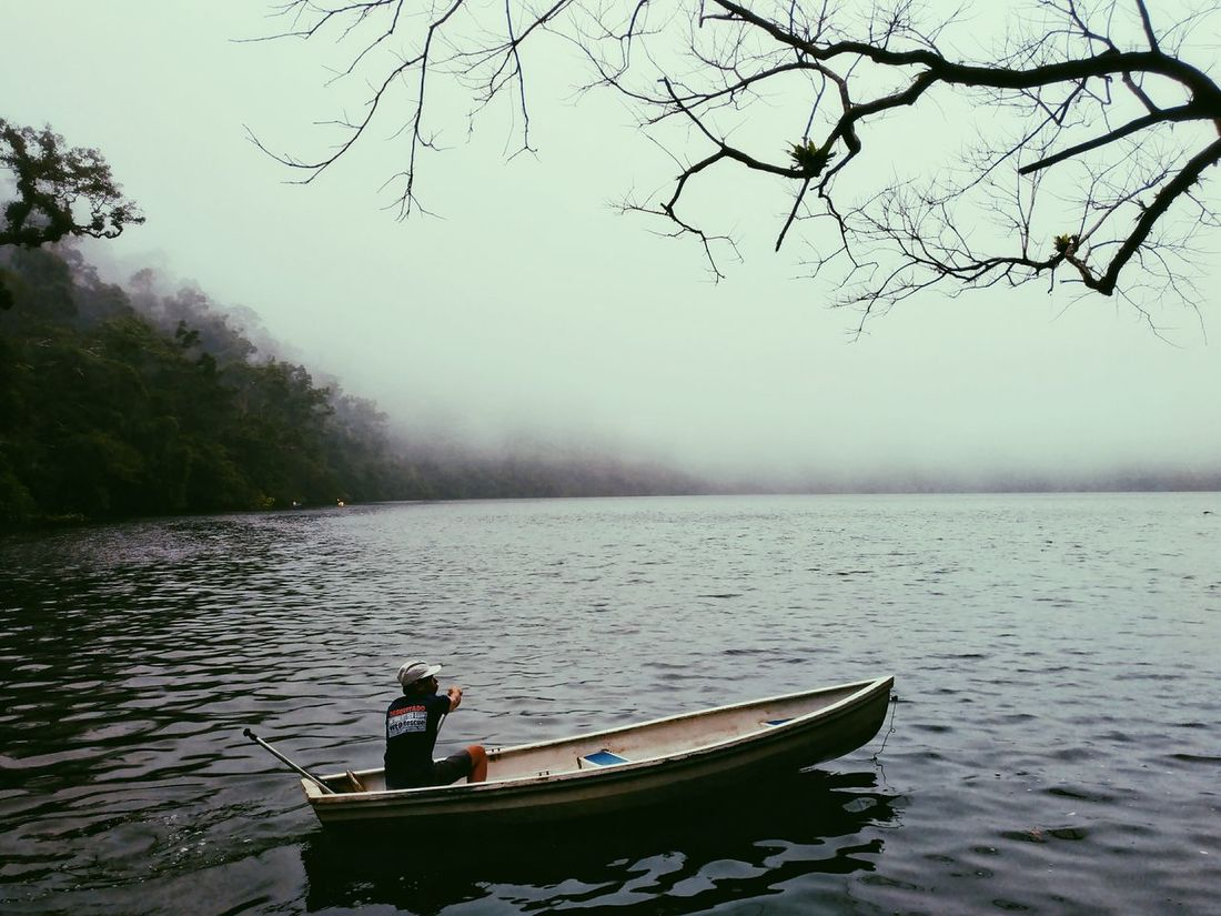 Bulusan LakeThe Great Outdoors - 2017 EyeEm Awards EyeEm Best Shots Eyeem Philippines Mobile Photography CapturedByZ3N Outdoors Landscape Rowboat Water Lake Nature Kayak Nature One Person Philippines Sorsogon Bulusan Beauty In Nature Let's Go. Together.