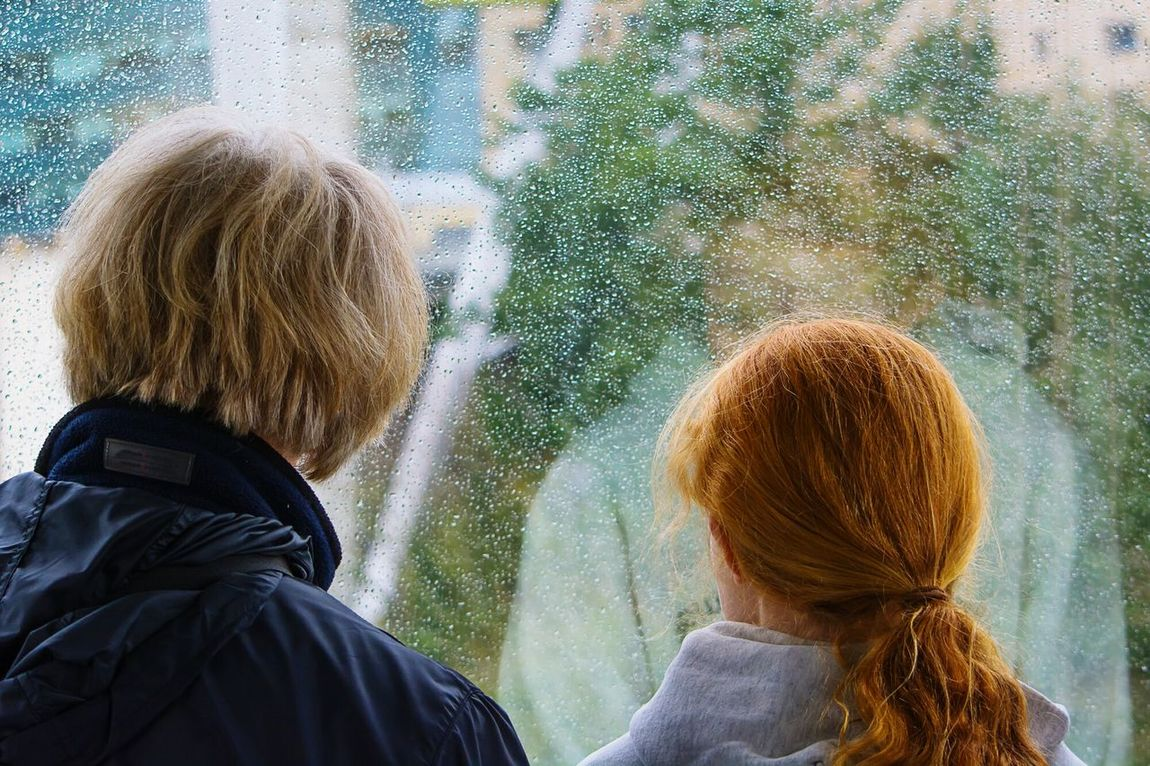 Rainy Days☔, mother and daughter, togetherness, candid photography, People Together
