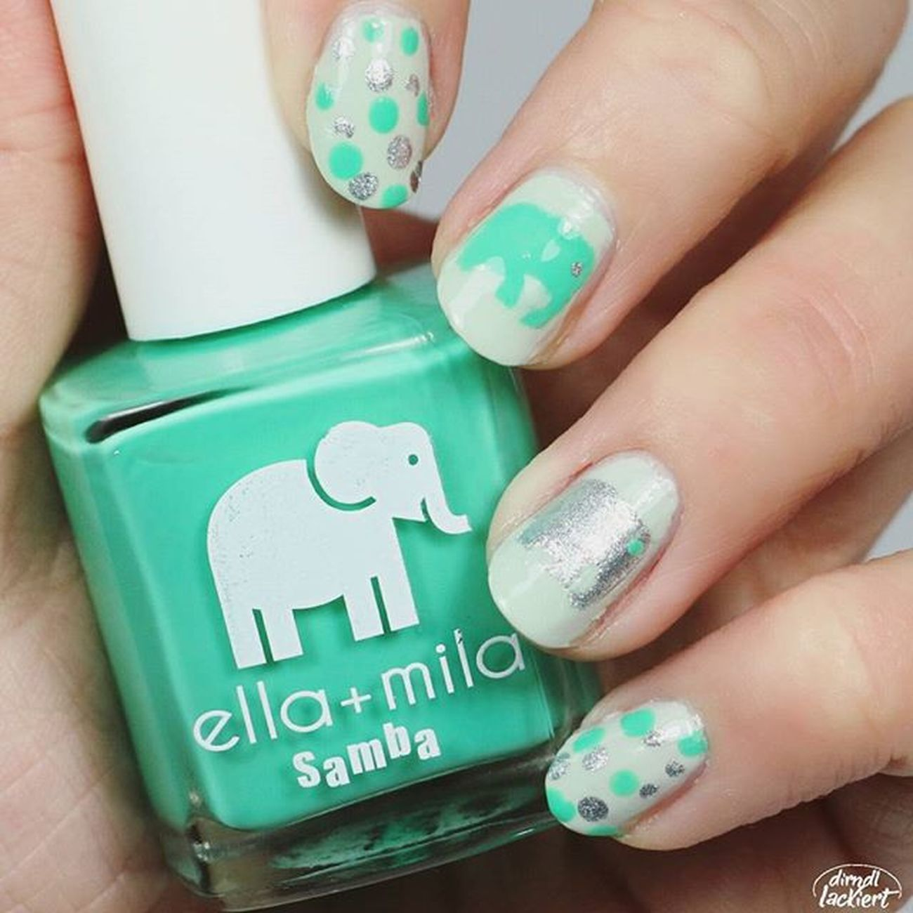 Dear @ellamilapolish I wish you all the best to your 2nd Birthday! 🎂🎉 Lots of kisses to your lovely elefants 😘❤ Und guten Morgen an alle in Deutschland 😁🌝 Ellamila Ellamilaturns2 HappyBirthday Nagellack  Nailpolish Beautiful Nailart  Naildesign Nails2inspire Nails Naillacquer