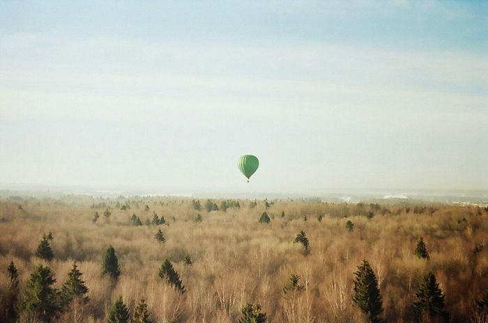 One Film Film Photography Kodakfilm Moscow Zenit122 Filmcamera Filmphoto Film Shot Nature Skycollection Baloon Fly