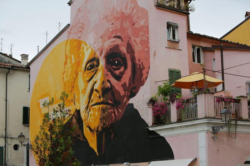 Carrara Street Art Taking Photos Hello World