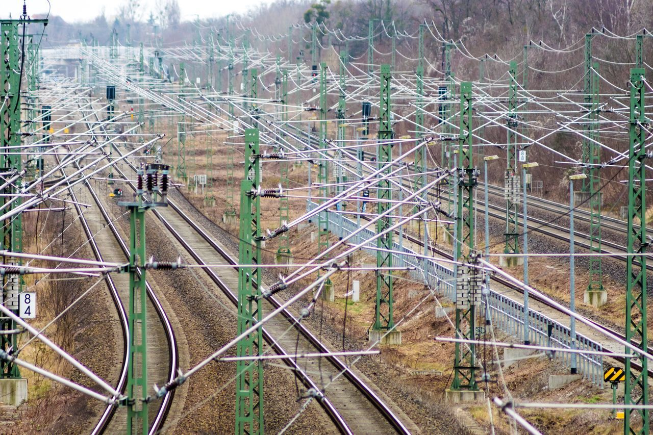 Aerial View Architecture Complexity Confusion Day Electricity  Electricity Pylon Gleis Gleise High Angle View No People Outdoors Rail Transportation Railroad Track Rails Railway Railway Track Schienen Transportation Secret Places