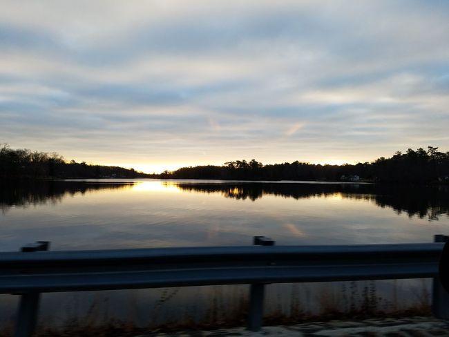 Sunset Reflection Tree Water Reflection Lake Lake Outdoors Sky Nature No People