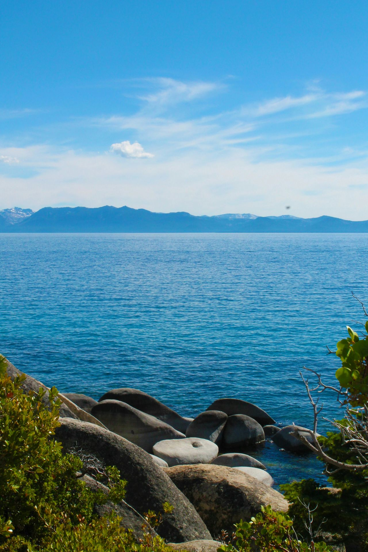 Lake Tahoe, California. Lake Landscape Mountains Sky Water Lake Tahoe California Blue Stones Rocks Flora Nature Outdoors Scenery Tranquility Travel